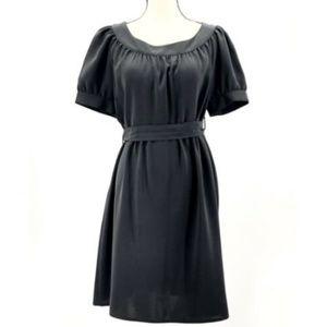 Zara Basic Short Sleeve Black Dress Causal